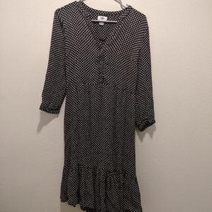 Old Navy Black with white flowers dress